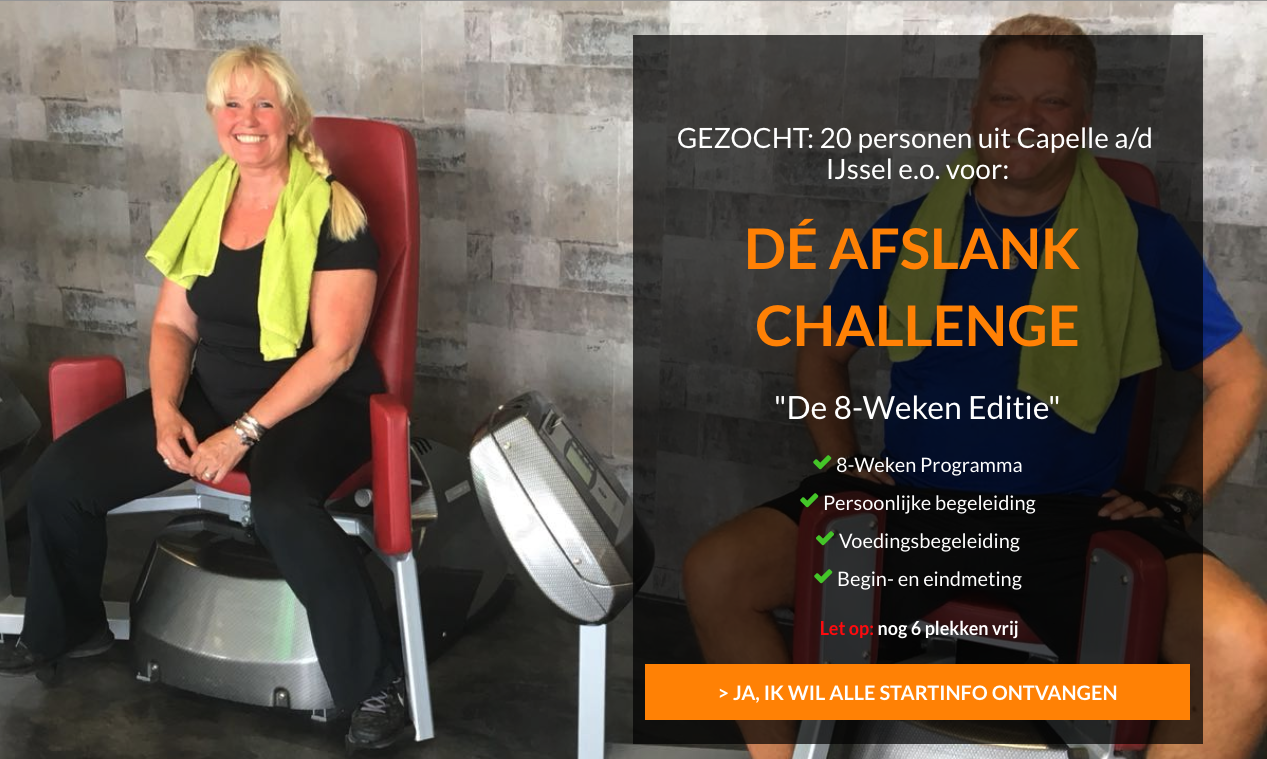 Nu bij Studio Miran: De Afslank Challenge - 8 weken editie